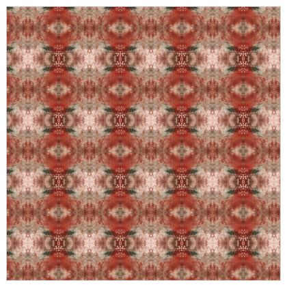 Red Texture Painted Damask Leather Printing