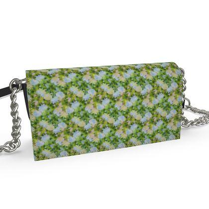 Oana Evening Bag Green, Blue, Floral  Fuchsias  Newt