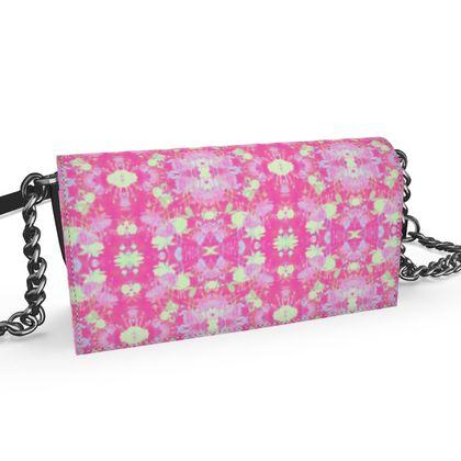 Oana Evening Bag Pink, Yellow, Floral  Fuchsias  Cherry Cake