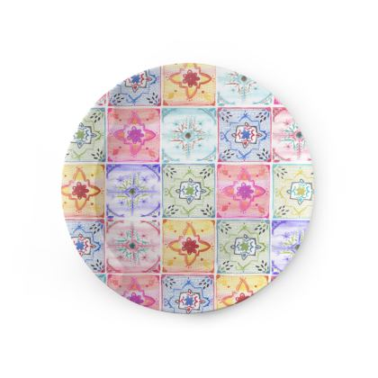 """Mediterranean Tile"" China Plate"