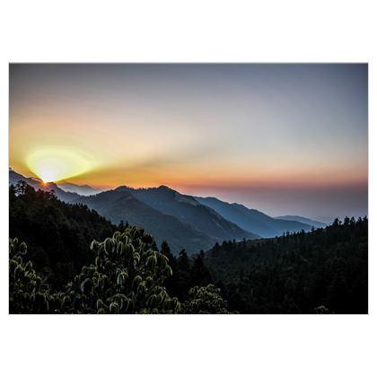 Sonnenaufgang auf Stoff