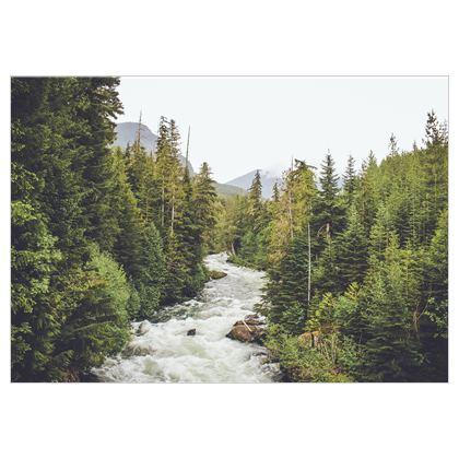 Im Fluss des Lebens auf Stoff