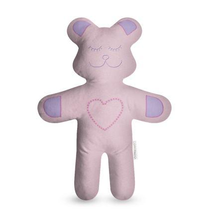 Felt Faux Embroidered Teddy Bear