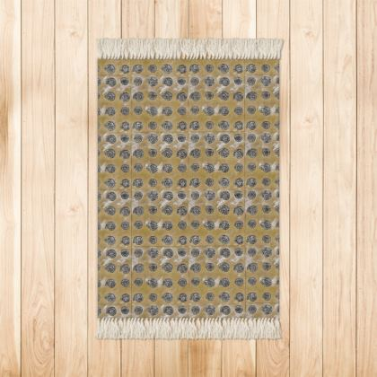 'Ammonites' Rug in Brown and Cream