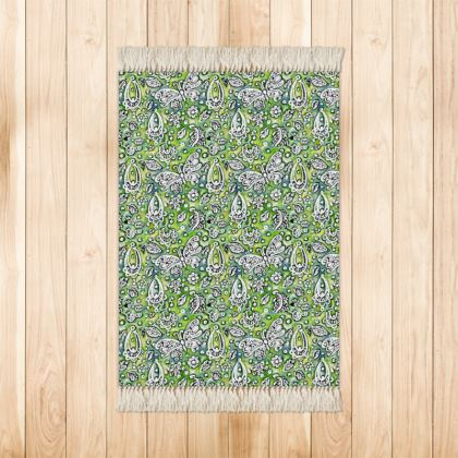 'Butterflies' Rug in Green
