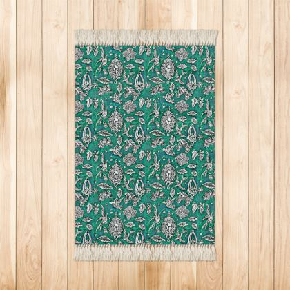 'Fantasia' Rug in Green and White