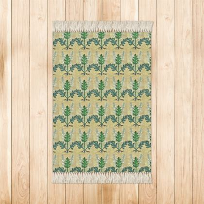'Acanthus' Rug in Cream and Green