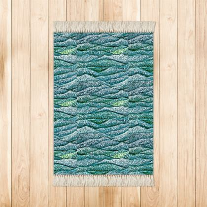 'Ocean Waves' Rug in Blue and Green