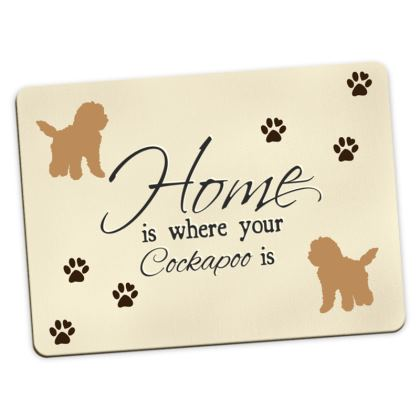 Large Placemats red cockapoo