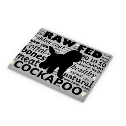 Cutting Boards grey with black Cockapoo