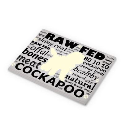 Cutting Boards grey with cream Cockapoo