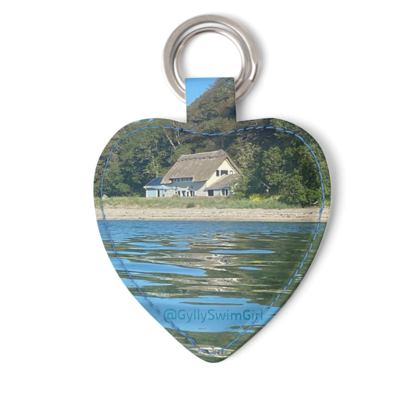 Pedn Billy Boathouse heart keyring
