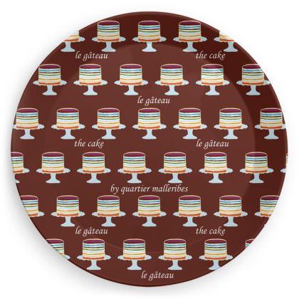 """Party Plate """"Le Gâteau"""" (Chocolat)"""