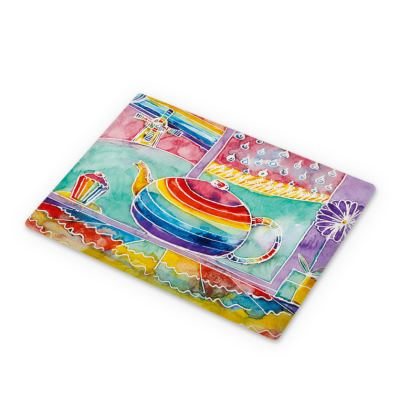 Rainbow Teapot large cutting board (30x23cm)
