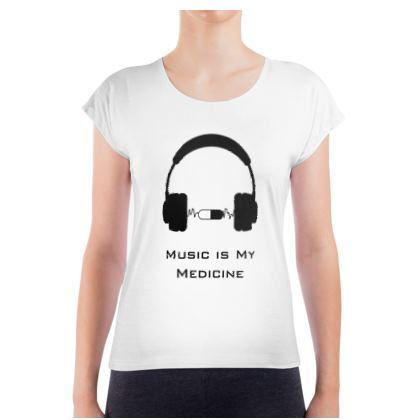 Ladies T Shirt - Music Is My Medicine
