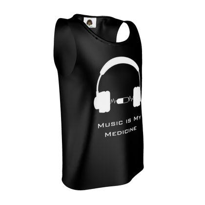 Vest - Music Is My Medicine  (White Text)