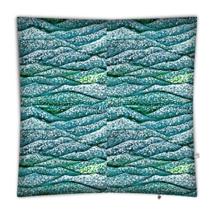 'Ocean Waves' Floor Cushion in Blue and Green
