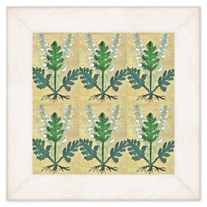 'Acanthus' Double Quilt in Cream and Green