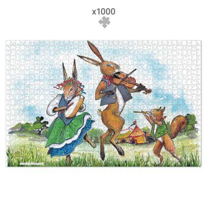'Jack Hare and The Field Folk Band' 1000 piece jigsaw