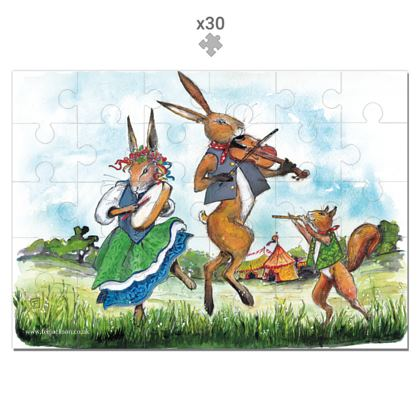 'Jack Hare and The Field Folk Band' 30 piece jigsaw