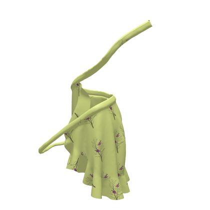 Flounce Skirt - Emmeline Anne Birds On a Branch Lemon