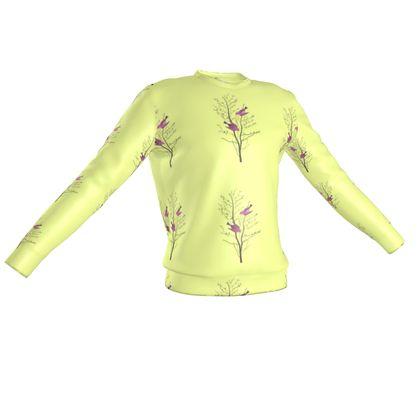 Sweatshirt - Emmeline Anne Birds On a Branch Lemon