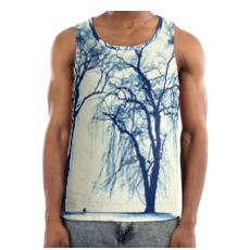 Blue Trees Cut and Sew Vest