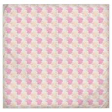Silk Duvet Covers Pink, Peach, Flowers  Hollyhocks  Sweet Flummery