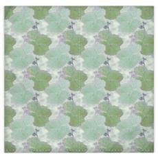 Silk Duvet Covers, Turquoise, Green, Flower  Hollyhocks  Fernery