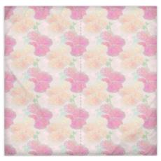 Silk Duvet Covers Pink, Peach, Flower  Hollyhocks  Sweet Flummery