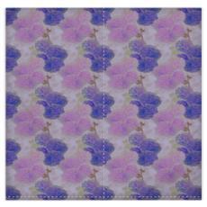 Silk Duvet Covers, Mauve, Blue, Flower  Hollyhocks  Currant Bun