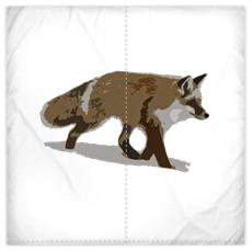 Silk Duvet Covers - Lonely Fox In The Snow
