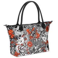 Sixth Mix Zip Top Handbag