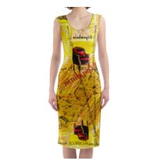 Designer Kleid ORCHID YELLOW size L by ninibing34, size L