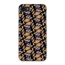 Repeated Smokey Face Print: Urban Luxury Design iPhone 7 Case