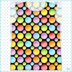 Rainbow Polka Dots Womens Hooded Rain Mac