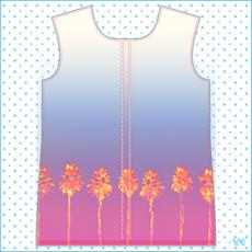 Palm Trees Collection Womens Hooded Rain Mac