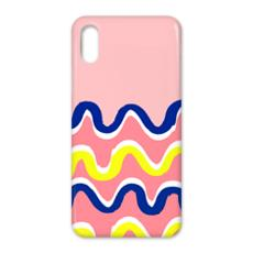 Hello There First Impressions iPhone X Case in Pink Wiggle Print