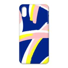 Hello There First Impressions iPhone X Case in Bold Strokes (Blue)