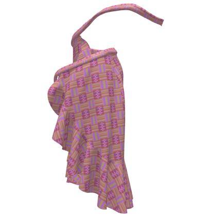 Candy Kente Flounce Skirt