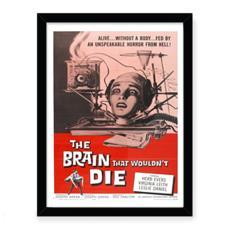 Vintage 'B' movie Premium Art Print - The Brain That Wouldn't Die