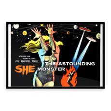 Vintage 'B' movie poster Premium Art Print - The Astounding She Monster
