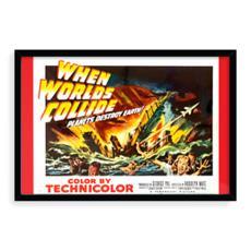 Vintage 'B' Grade Movie Poster - When Worlds Collide Red