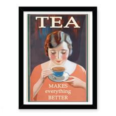 Vintage Art Deco Tea Advert Art Print