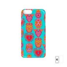 Day of the Dead iPhone 6 Case - Hot Pink and Turquoise