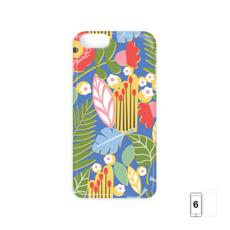 Paradise House Tropical Floral Blue iPhone 6 Case