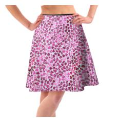 Leopard Skin in Magenta Collection Flared Skirt