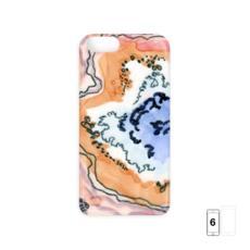 Orange and Blue Geode iPhone 6 Case