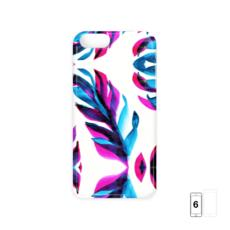 Pink and Blue Leaf iPhone 6 Case