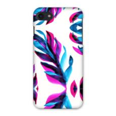 Pink and Blue Leaf iPhone 7 Case